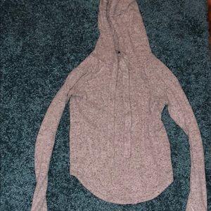 Forever 21 SOFT long sleeve hooded shirt